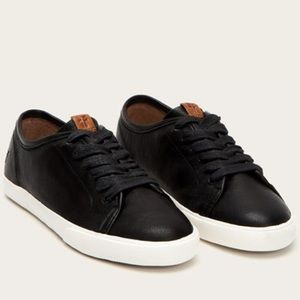 🆕 Frye Maya Low Lace Sneaker Black Leather